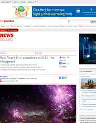 London Fireworks on New Year's Day 2011 - New Year Live - BBC One